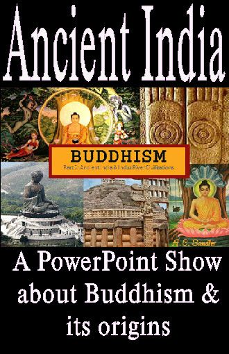 BUDDHISM  a Religion from ANCIENT INDIA  PowerPoint Presentation  Who is the Buddha? Where did the religion originate? What do Buddhists believe? How does Buddhism differ from Hinduism? These questions and more are answered in this fascinating presentation. Classroom discussions, writing opportunities, and practice identifying Buddhist symbols are included in the presentation.   41 SLIDES  Common Core Standards RH.6-8.1, RH.6-8.5, RH.6-8.7, WHST.6-8.10, SL.7.2, SL.7.1  $