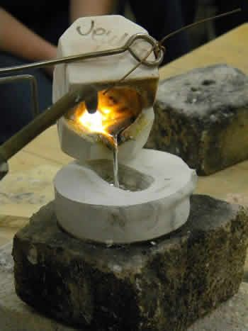 Using wax casting for jewelry