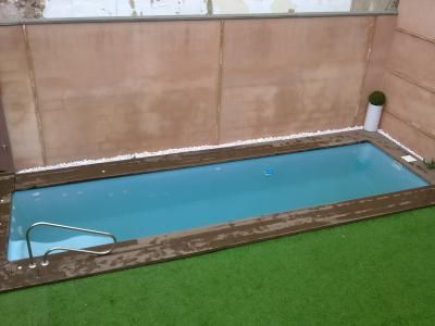 M s de 25 ideas incre bles sobre piscina rectangular en - Piscinas pequenas prefabricadas ...