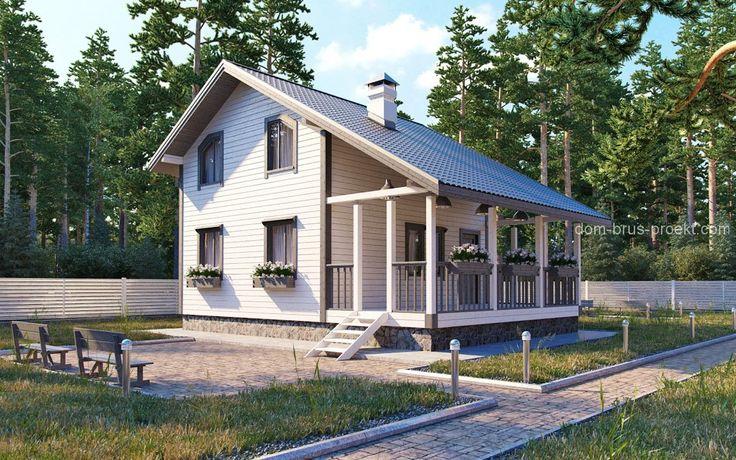 Дом с террасой верандой фото