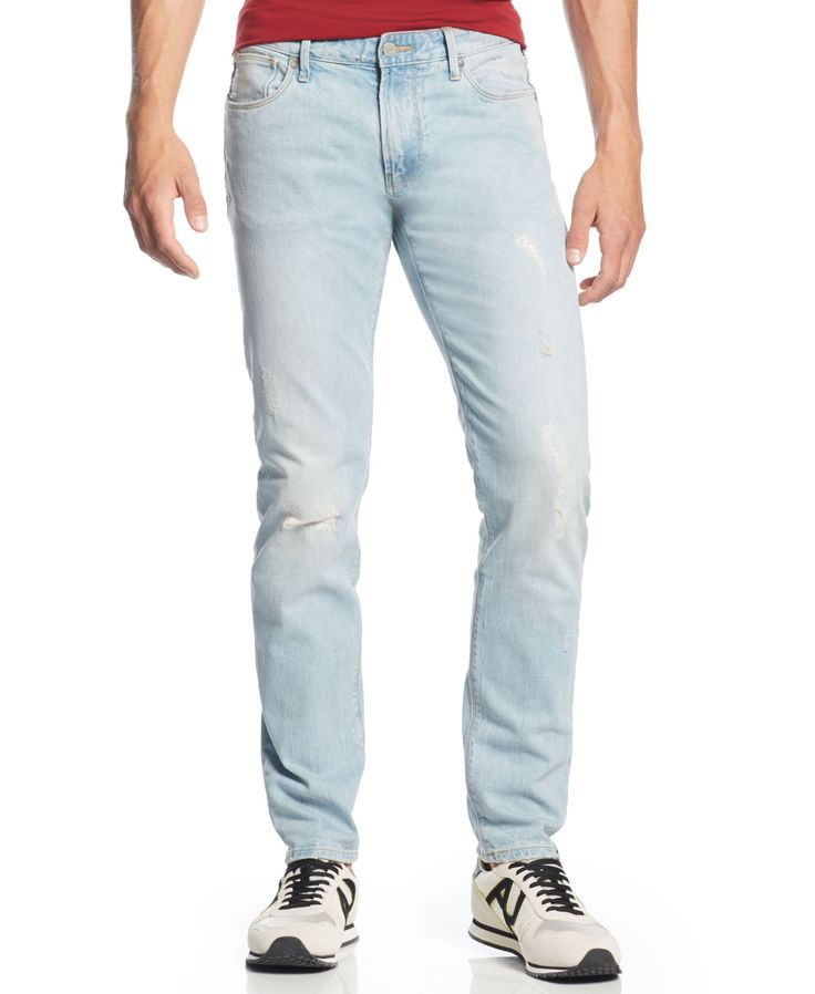 Armani Jeans Ripped Slim-Fit Jeans