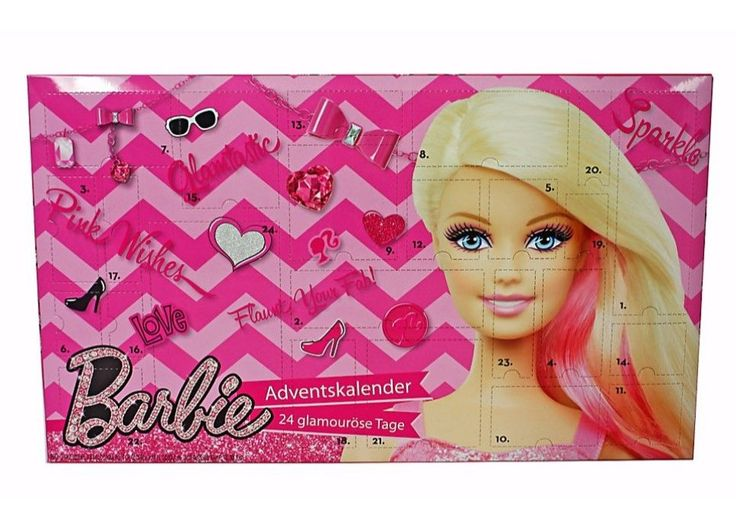 #Barbie #advent #calendar girls christmas beauty make up jewellery 24 gifts **new,  View more on the LINK: 	http://www.zeppy.io/product/gb/2/172395084156/