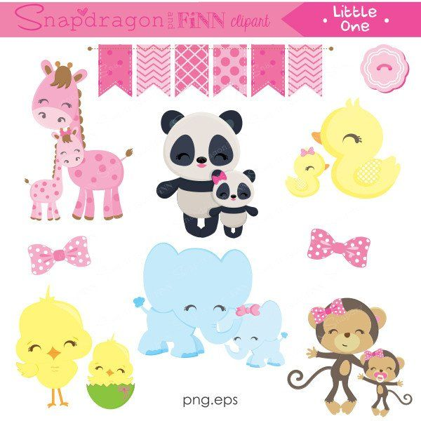 Pink Little One Baby or Big Sister Clipart
