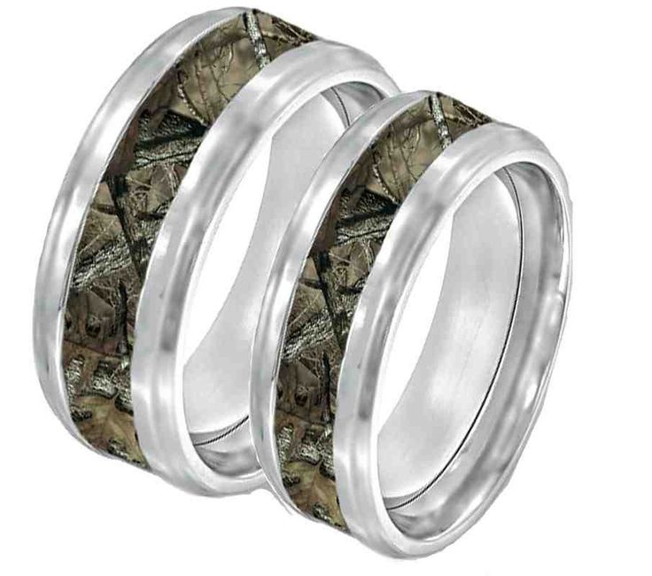 Camo Promise Rings For Him And Her