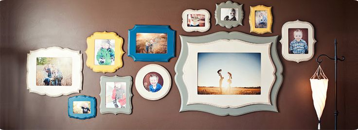 Love These Organic Bloom Frames And The Color Scheme