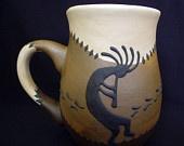 Kokopelli Stoneware Coffee Mug - Southwestern Mugs