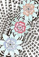 547 Zentangle Three Flowers