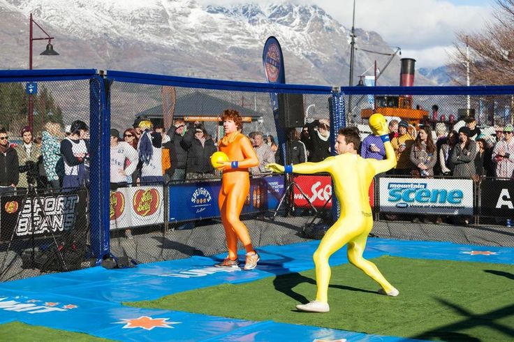 The Speight's Dogeball was a crowd favourite #Queenstown #winterstartshere #newzealand #nzmustdo