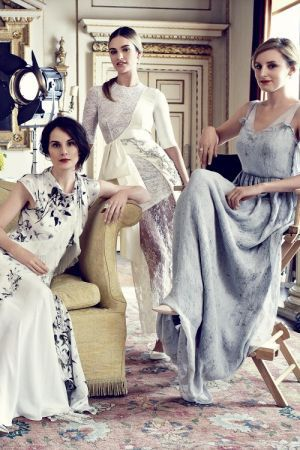 The ladies of Downton Abbey for Harpers Bazaar UK August 2014.jpg