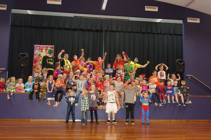 Thanks to all the superstars who came down to our School Holiday Disco Party for The KidzWish Foundation during The Easter School Holidays, we hope you guys had a slamming time!  If you would like the Super Wrestling Heroes to perform at your next function or event visit www.superwrestlingheroes.com.au  ARE YOU READY TO PARTY?! www.superwrestlingheroes.com.au