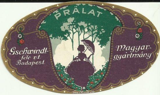 Vintage liquor label distillery hungary 1910s