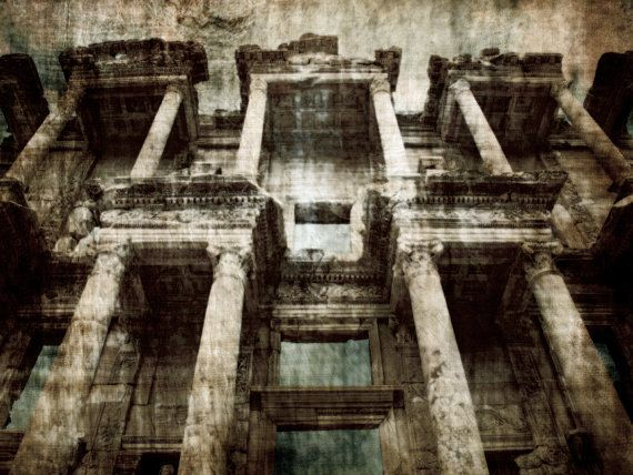 Photographic Art Print Distressed Ephesus by TDMillerArtPrints, Ephesus, Turkey, Ruins, Art,