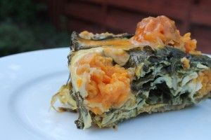 Sweet Potato And Spinach Breakfast Casserole