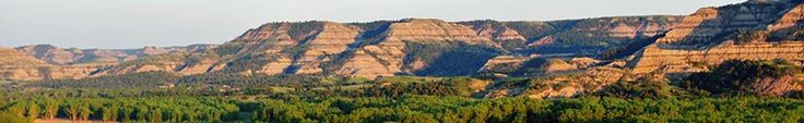 Theodore Roosevelt National Park -- not exactly near Chicago, but a definite road trip possibility, 14 hour drive