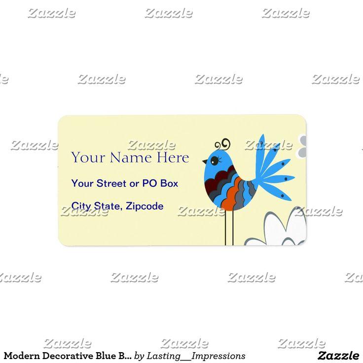 Modern Decorative Blue Birds