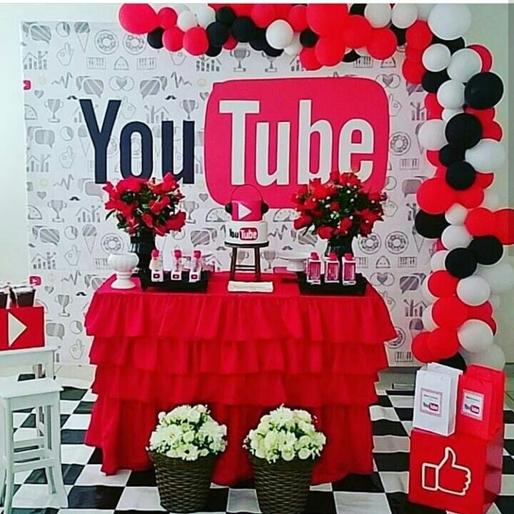 Pin By Mmorton Studios On Youtube Instagram Party 7th Birthday Party Ideas Youtube Party
