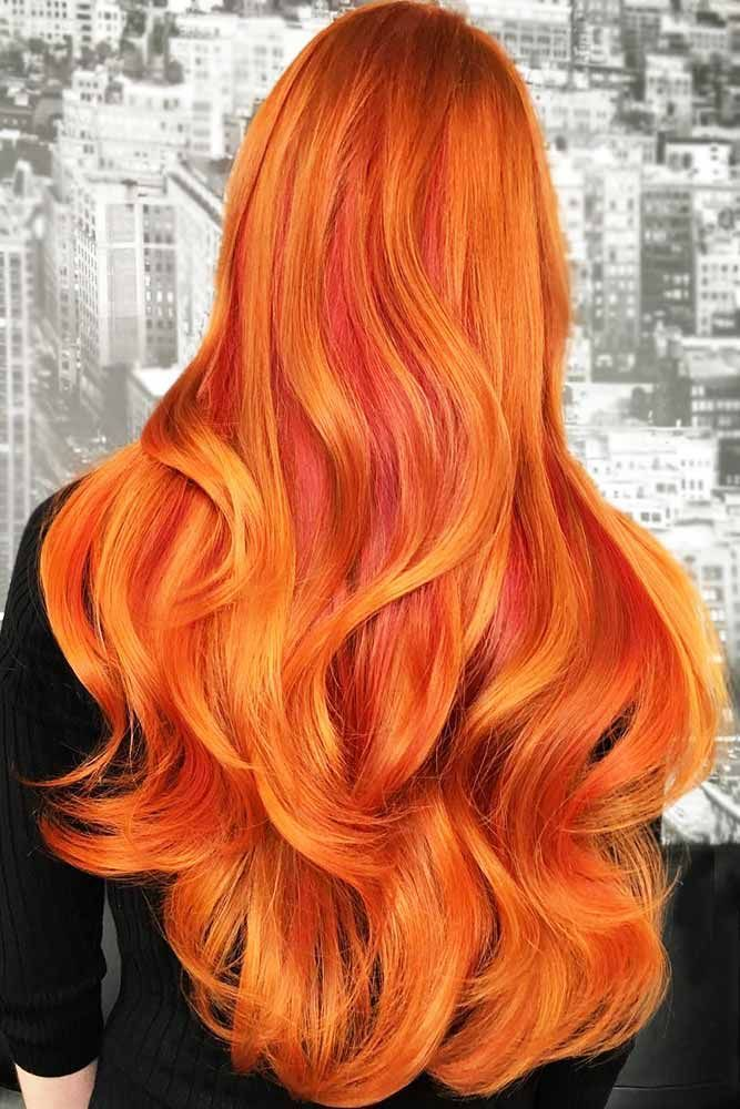 Best Color To Dye Hair: 25 Eye-Catching Ideas Of Pulling Of Orange Hair Today