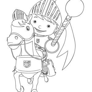 Jousting At Mike The Knight Coloring Page