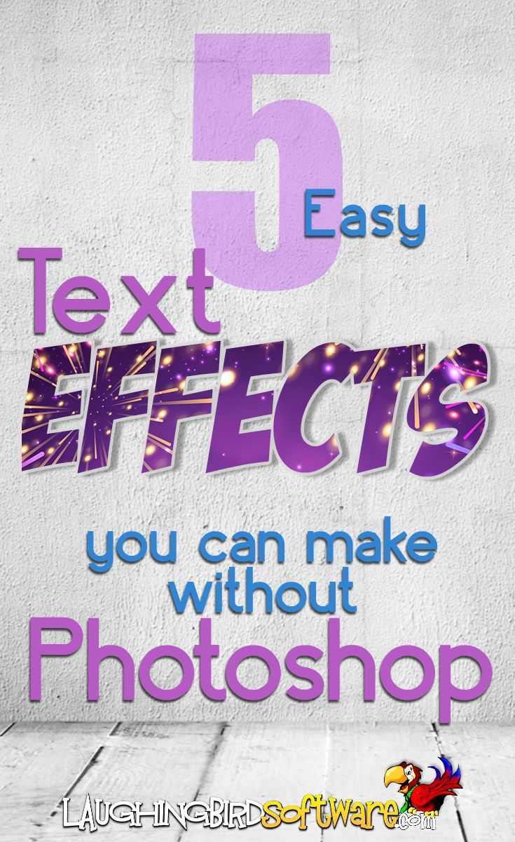 5 easy text design effects you can make without Photoshop; even non-designers can make special text effects with a free graphic design tool! Watch the video tutorials on makingdifferent text effects.