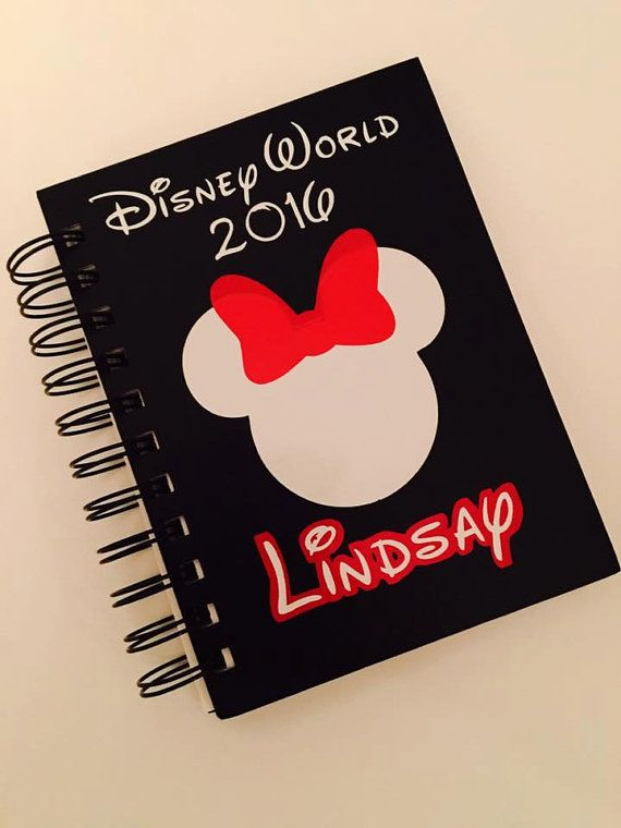 Personalized Disney Autograph Book by BlueMonkeyDesign on Etsy