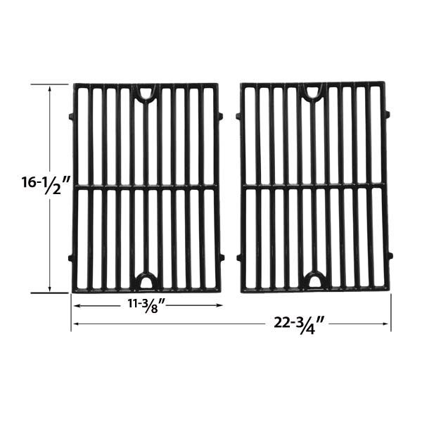 2 PACK GLOSS CAST IRON REPLACEMENT COOKING GRID FOR GRAND CAFE GC1001, VERMONT CASTINGS CF9030, SIZZLER, SIZZLER BUILT-IN, VC3505, VCS3006 GAS GRILL MODELS Fits Compatible Grand Cafe Models : GC1001, GC2000, GC2001, GC3001, Grand Cafe 1000, Grand Cafe II Read More @http://www.grillpartszone.com/shopexd.asp?id=34003&sid=37428