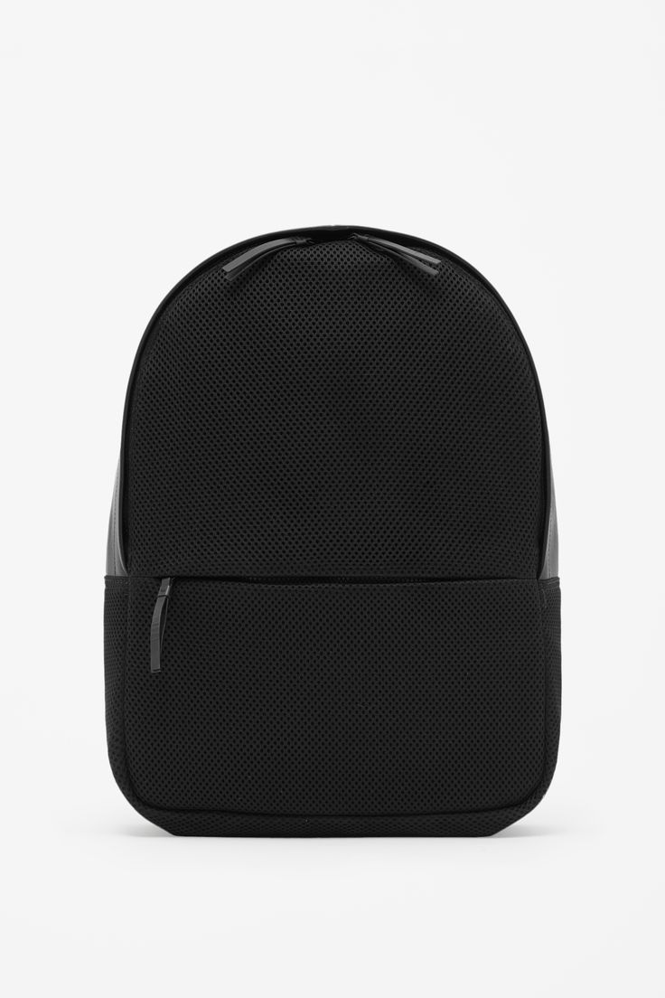 Leather and mesh backpack