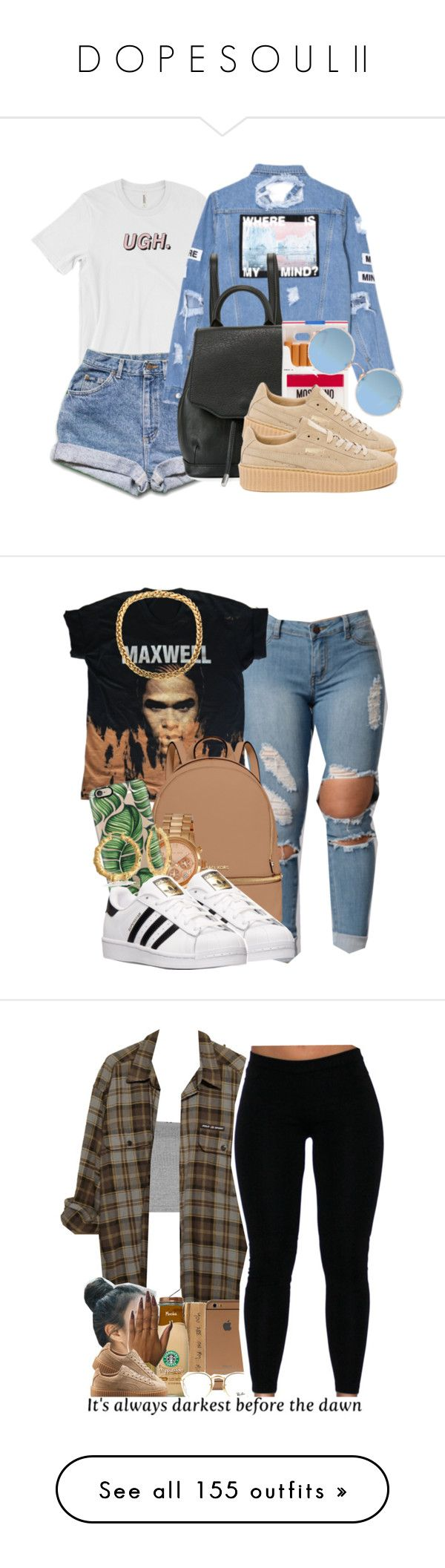 """D O P E S O U L II"" by brandii2016 ❤ liked on Polyvore featuring rag & bone, Moschino, Puma, Sunday Somewhere, MICHAEL Michael Kors, Michael Kors, Casetify, Bling Jewelry, adidas and Topshop"