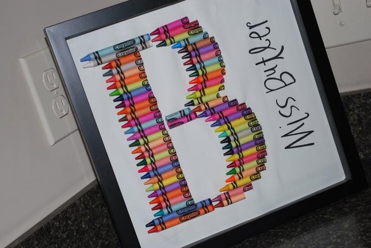 B- crayon letter art