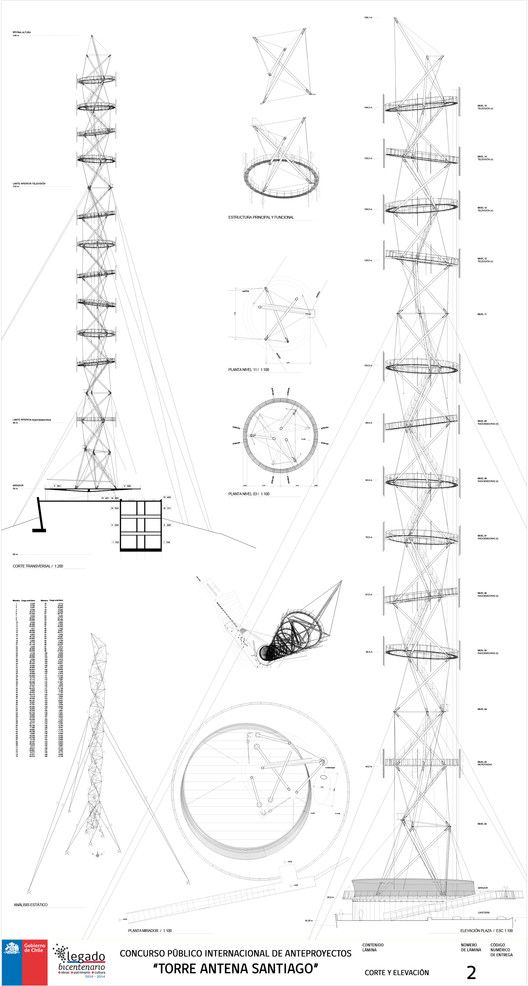 First Place, Santiago Antenna Tower Competition, Built by  in Providencia, Chile Smiljan Radic, Gabriela Medrano, and Ricardo Serpell have won a competition to design a new landmark for Santiago, Ch...