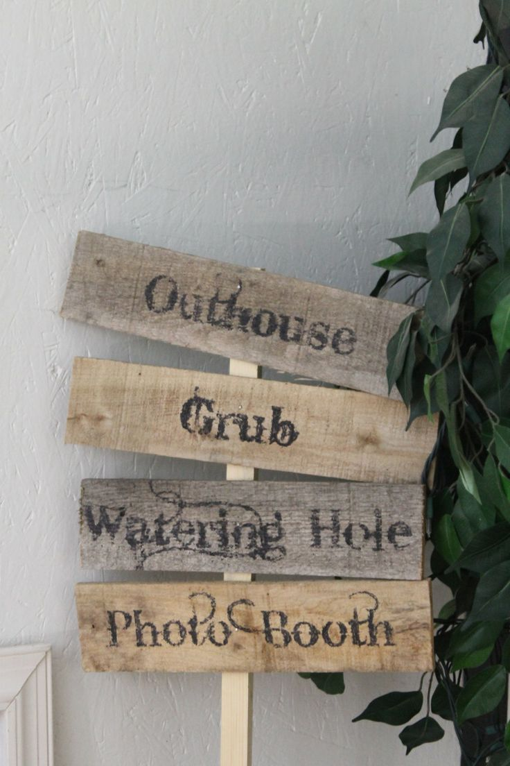 Rustic Party Signs on a Stake by Cinnamonrays on Etsy, $55.00