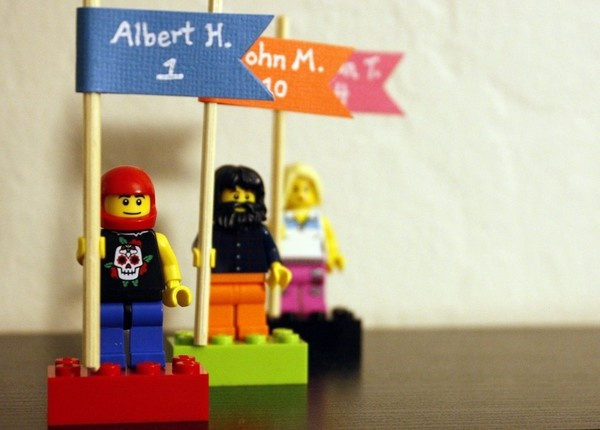 #Lego place cards: A DIY #wedding tribute to a favorite childhood toy. http://exm.nr/N2Nv20