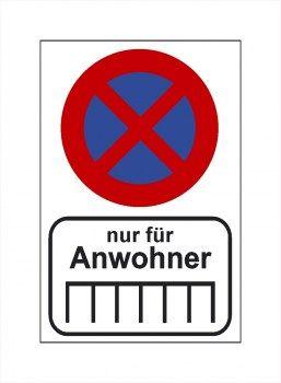 Verboten! Parken nur für Anwohner, Paken Verboten Aufkleber