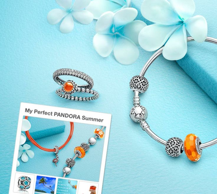 Win vibrant orange and elegant silver jewellery in our Pinterest contest! Click to see how. #PANDORAsummercontest