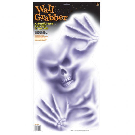 Halloween Skelet Væg Vindue Dekoration - Single. Kan sættes på vægge, døre, vinduer og spejle til enhver uhyggelig fest, ikke mindst Halloween.