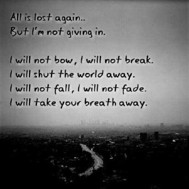 Breaking Benjamin, I Will And Breaking Benjamin Lyrics On