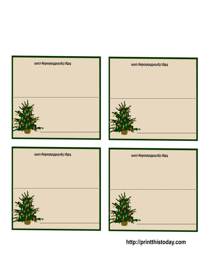 Free Printable Christmas Tree Place Cards