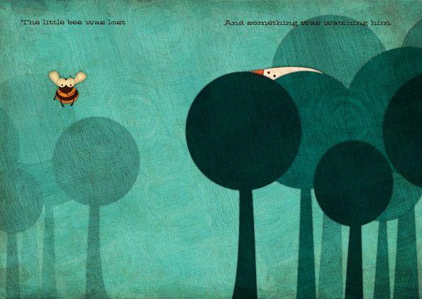 IlustracionesBehance, Favourite Illustration, Art, Jennifer Farley, Childrens Books, Children Books, Book Illustration, Colors Inspiration, Bees Lost