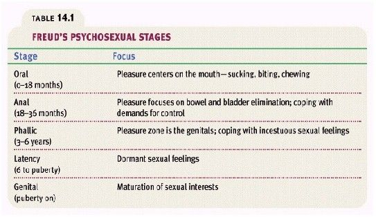 psychosexual development and human sexuality