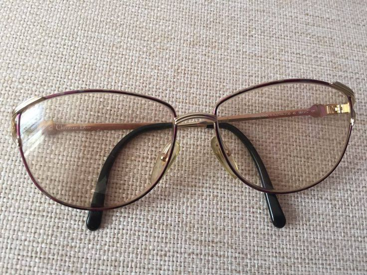 Christian Dior Original Eye Glasses Frame purple golden