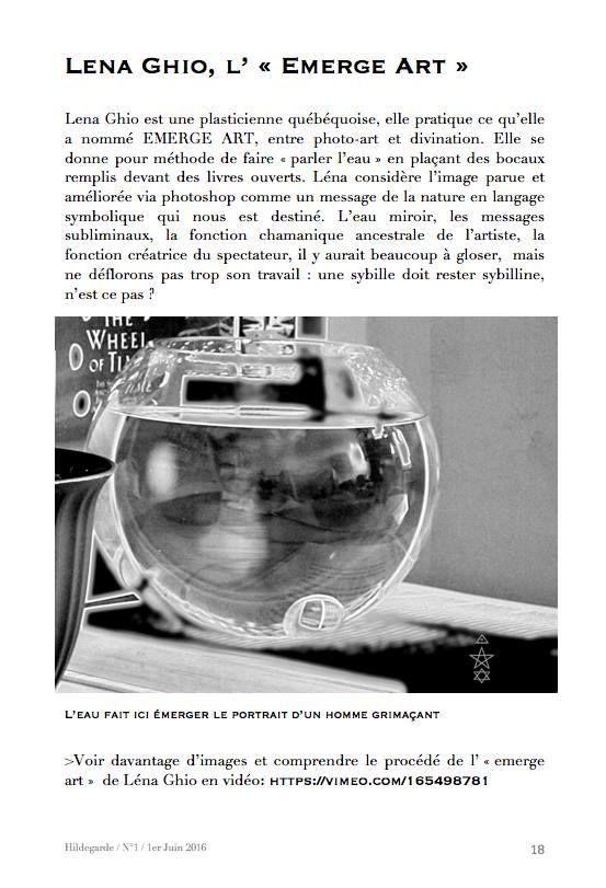 The Lena Ghio Paradox/Le Paradoxe Lena Ghio: MOI sur le Fanzine Hildegarde