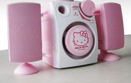 Cute Stereo!!!     http://www.geekalerts.com/u/hello-kitty-mobile-speaker2.jpg
