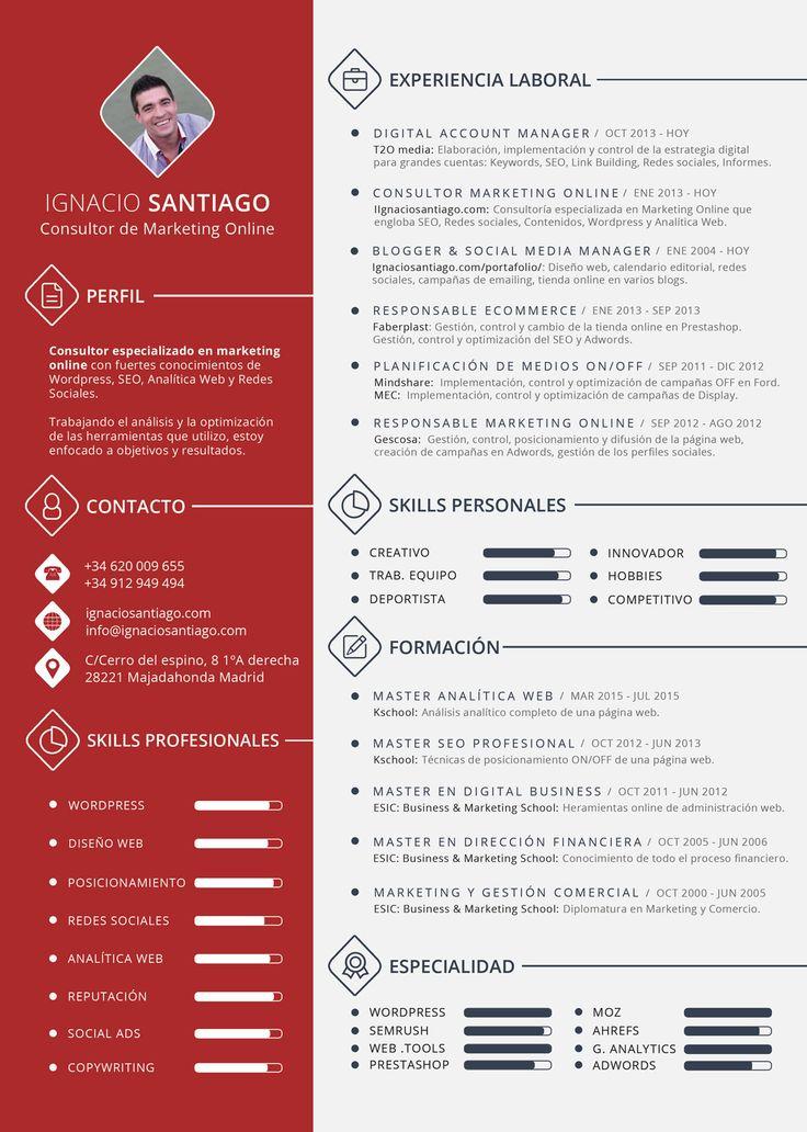 8 best Diseño cv images on Pinterest Cv template, Design resume - sample ad copywriter resume