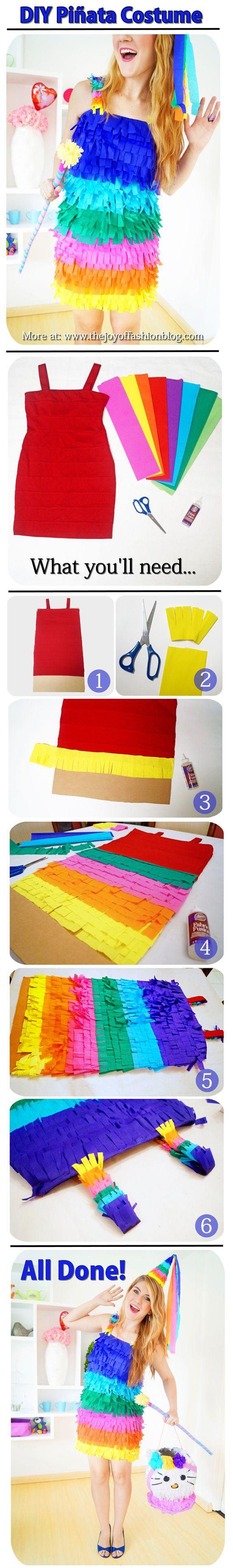 The Joy of Fashion: {Halloween}: Easy Homemade Piñata Costume