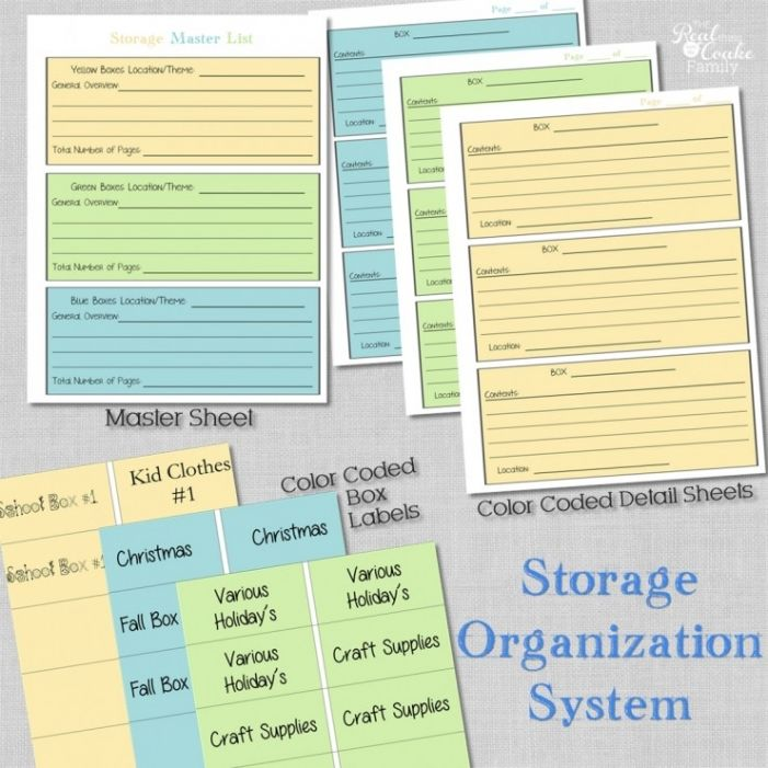 Storage organization system ~ Perfect for organizing your attic, shed, or garage storage bins.