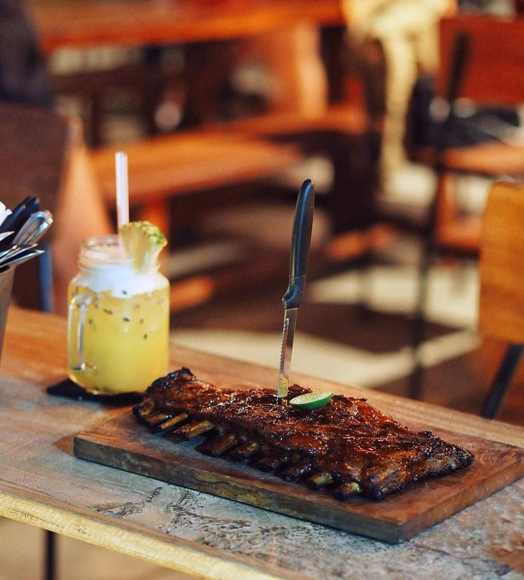 Taken by @balieatery #porkribs #pineapplecrush #foodtography