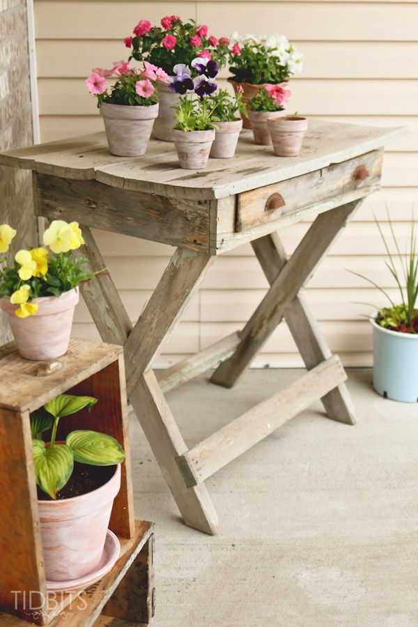 Summer Front Porch   How to White Wash a Terra Cotta Pot