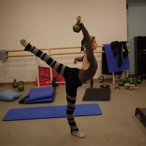 Now that's some extreme ballet cross-training! Alina Cojocaru
