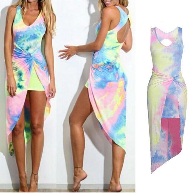 Women's Summer Boho Long Beach Dress Female