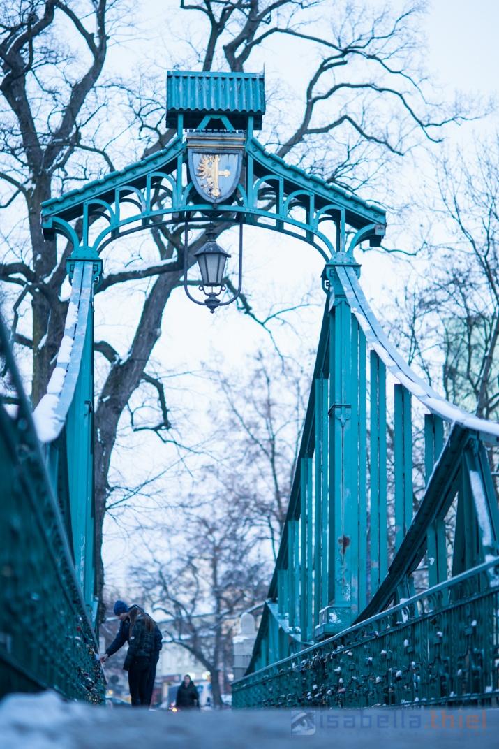 bridge - opole - lovers put locks on that bridge as a symbol of everlasting love...