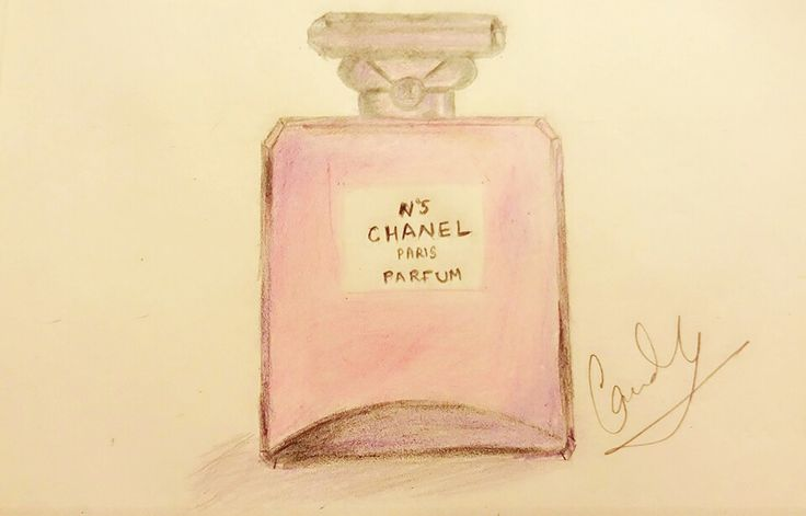 Not my best work but de stressed me alot! #sketch #chanel #perfume #art